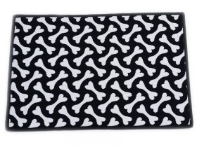 Black & White bone pet place mat